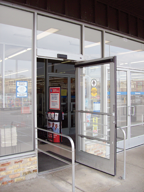 Service repair automatic doors overhead
